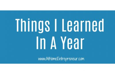 Things I Learned In A Year